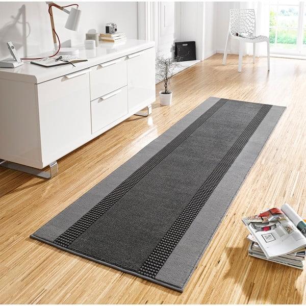 Koberec Basic, 80x500 cm, šedý