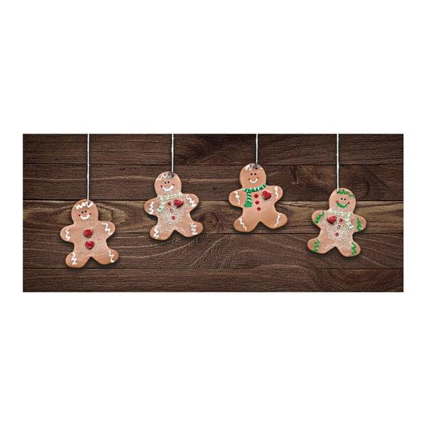Covor foarte rezistent Webtappeti Natale Gingerbreads, 60 x 150 cm