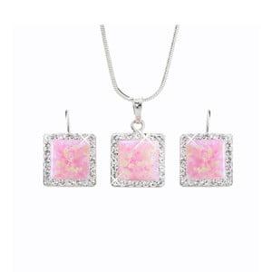Set náušnic a náhrdelníku Laura Bruni Pink Dream