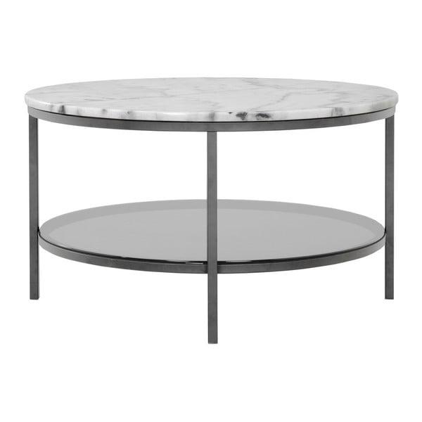 Mramorový odkládací stolek s šedou konstrukcí RGE Ascot, ⌀85cm