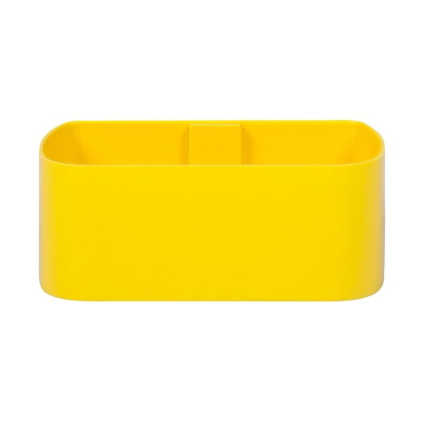 Magnetický květináč Truhlík 23x9x12 cm, žlutý