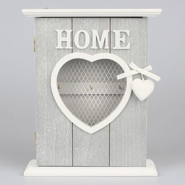 Věšák na klíče Home Love, šedý