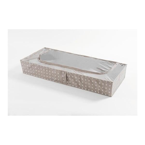 Malý béžový úložný box Compactor Dots, 46x107cm
