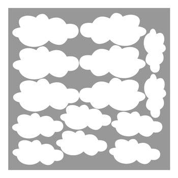 Autocolant de perete Clouds 100 x 100 cm 14 piese