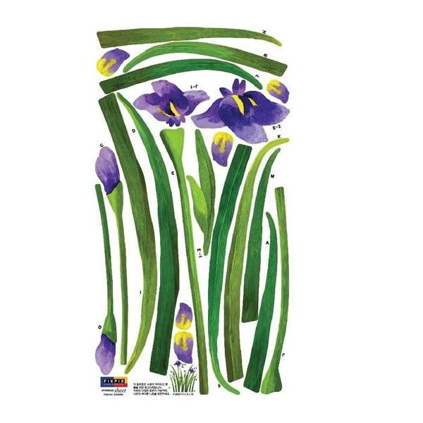 Samolepka Iris Purple, 33x60 cm