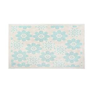 Bavlněný koberec Qualta 60x90 cm, tyrkysový