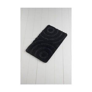 Černá koupelnová předložka Confetti Bathmats Wave Ecru, 60 x 100 cm