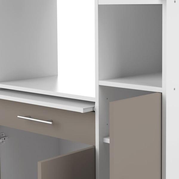 Šedý kuchyňský úložný systém s policemi TemaHome Louise