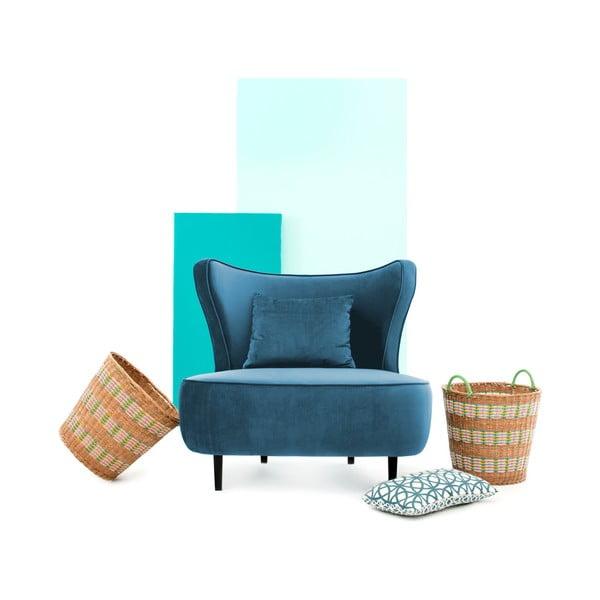 Modré křeslo Vivonita Douglas Love Seat