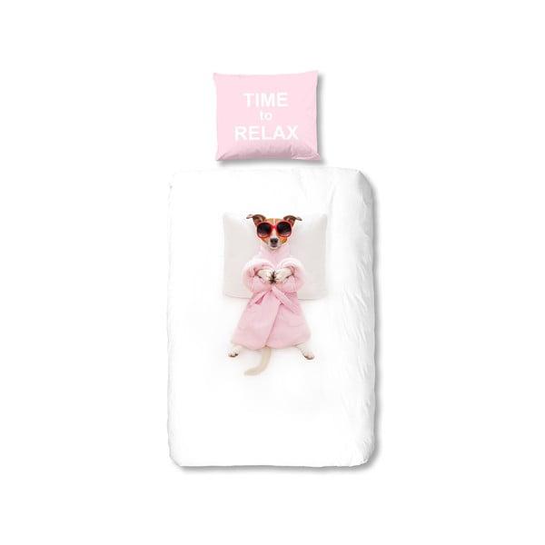 Detské posteľné obliečky z čistej bavlny Good Morning Relax, 140 × 200 cm