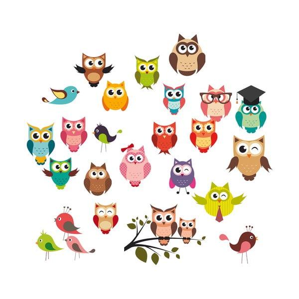 Dekorativní samolepka Funny Owls