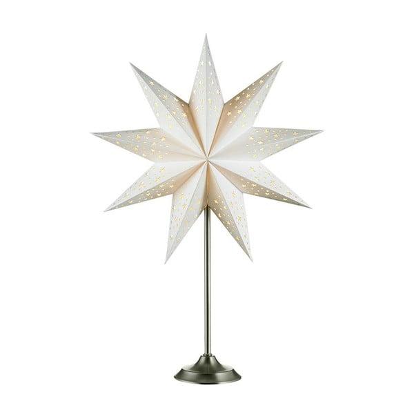 Bílá světelná dekorace Markslöjd Solvalla, výška 64 cm