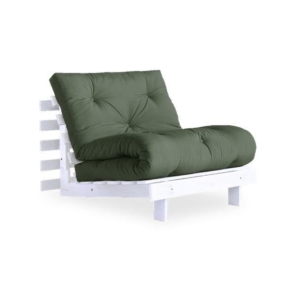 Variabilní křeslo Karup Design Roots White/Olive Green