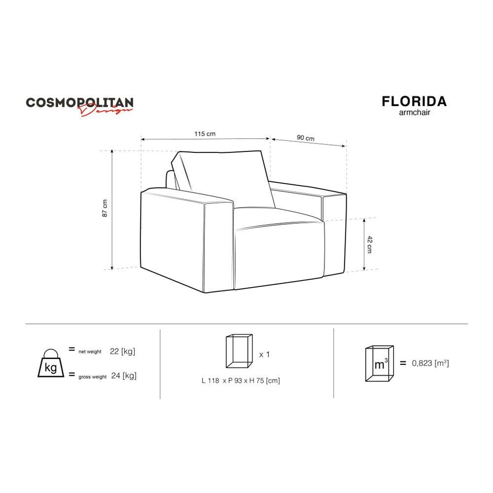 Produktové foto Tmavě zelené křeslo Cosmopolitan Design Florida