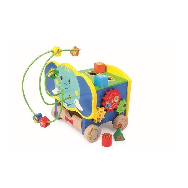 Jucărie motrică din lemn Legler Elephant