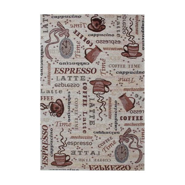 Hnědý koberec Eko Rugs Coffee, 80x150cm