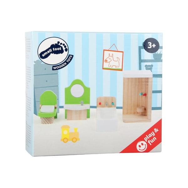 Set dreveného nábytku pre bábiky Legler Bathroom