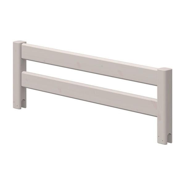 Szara barierka bezpieczeństwa z drewna sosnowego do łóżka dziecięcego Flexa Classic, dł. 116 cm