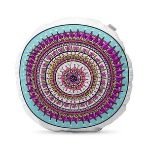 Fialový polštář HF Living Mandala, ⌀50cm