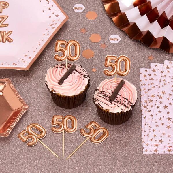Set 20 scobitori decorative cu numere din hârtie Neviti Glitz & Glamour 50