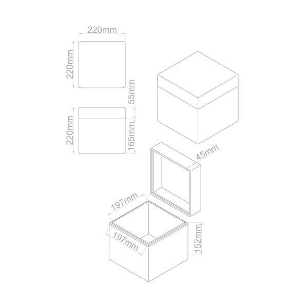 Sada 4 úložných boxů Dice