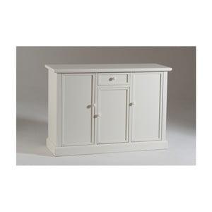 Comodă din lemn cu 3 uși și 1 sertar Castagnetti Lido, alb