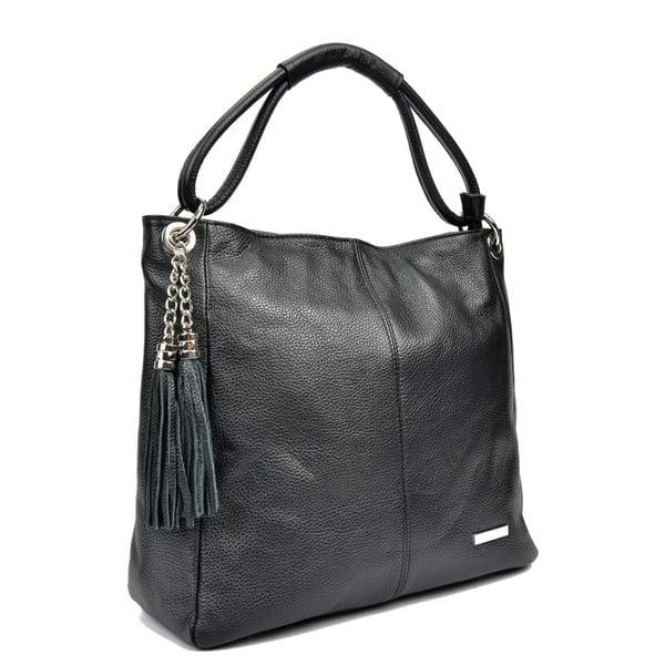 Černá kožená kabelka Anna Luchini Kare Nero