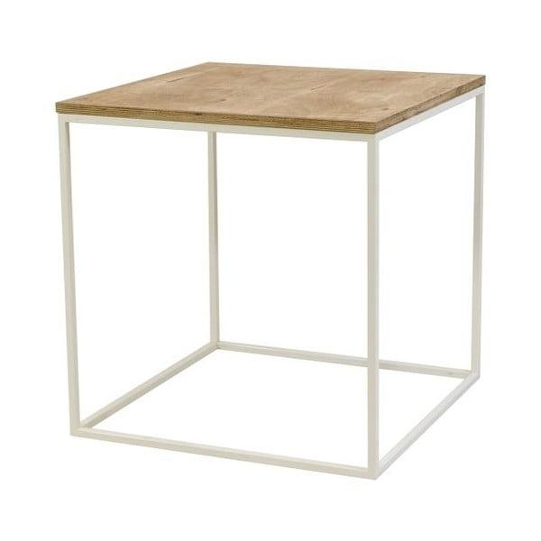 Odkládací stolek Side White, 58x58x60 cm
