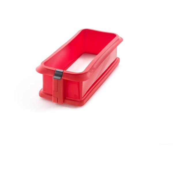 Červená silikonová rozevírací forma na dort Lékué