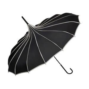 Černý holový deštník Von Lilienfeld Pagoda Justine