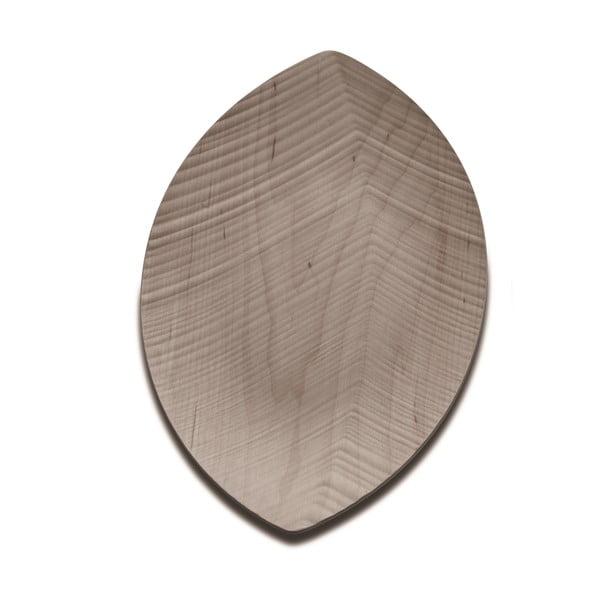 Servírovací podnos Leaf 33 cm, světlý