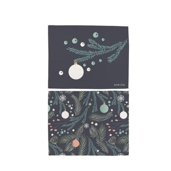 Set 2 șervețele din bumbac cu motive de Crăciun Butter Kings Christmas Deco, 45 x 35 cm imagine