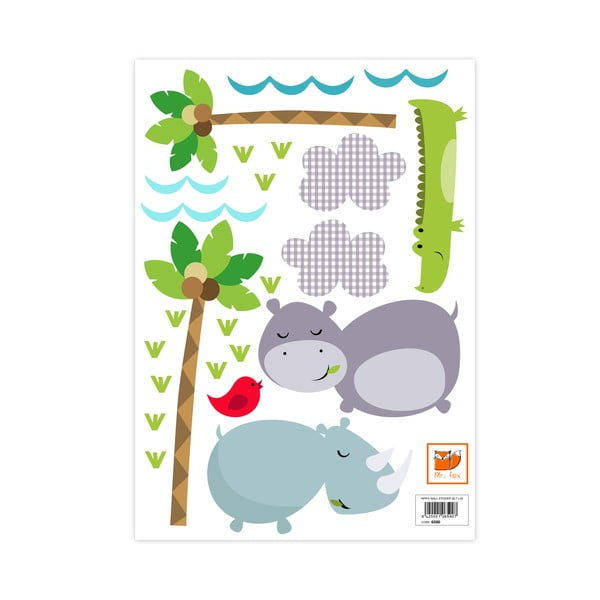 Samolepka na stěnu Hippo