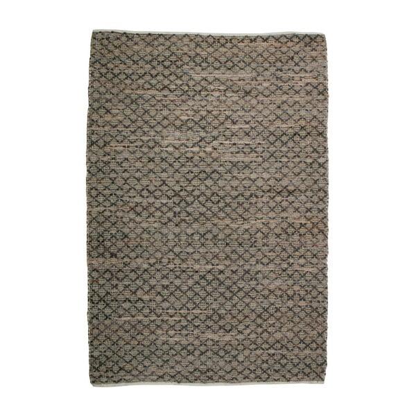 Twined barna bőr és juta szőnyeg, 240 x 170 cm - BePureHome