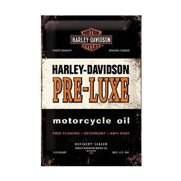 Plechová cedule Harley Pre-Luxe, 20x30 cm