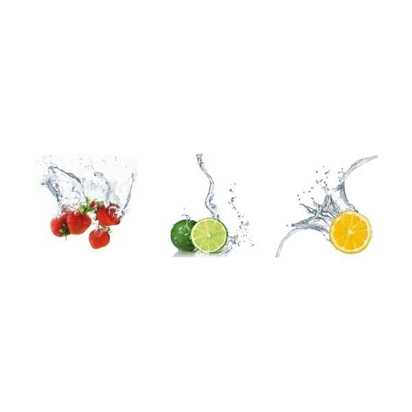 Samolepící obrazy Splashing Fruits, 30x30 cm