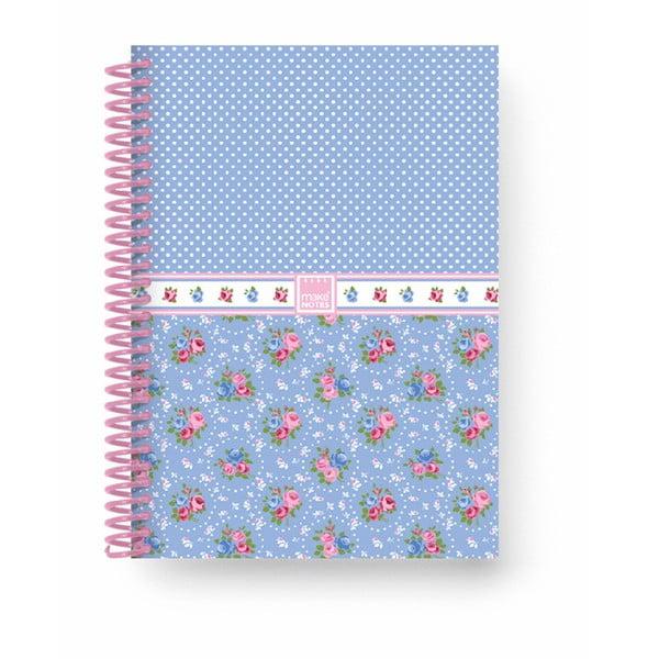 Zápisník A5 Makenotes Shabby Blue, 100 stránek