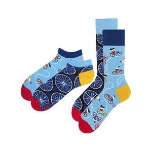 Sada 2 párů klasických a kotníkových ponožek Many Mornings Bicycles, vel.35-38