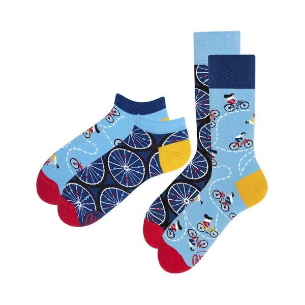 Sada 2 párov klasických a členkových ponožiek Many Mornings Bicycles, veľ. 39-42