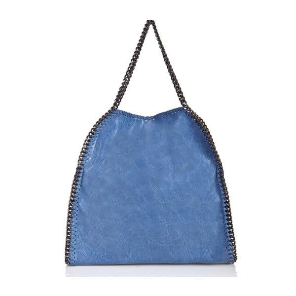 Kožená kabelka Mhari, modrá