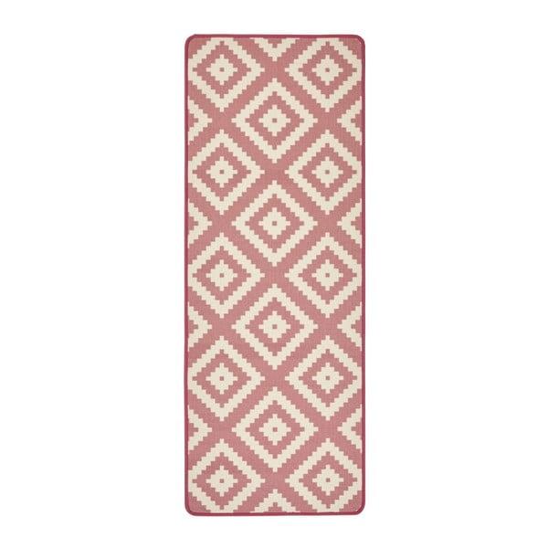 Covor de bucătărie Zala Living LoopDiamond, 67 x 180cm, roz