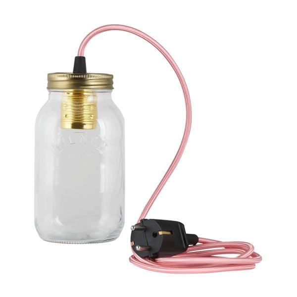 Svítidlo JamJar Lights, světle růžový kulatý kabel