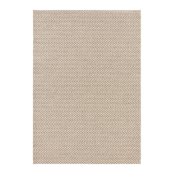 Krémový koberec vhodný i na ven Elle Decor Brave Caen, 80 x 150 cm