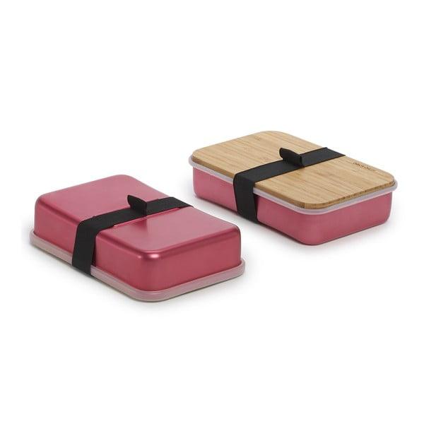 Růžový svačinový box Black Blum