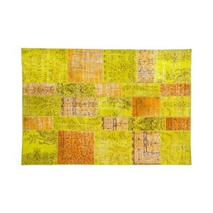 Vlněný koberec Allmode Green Or, 150x80 cm