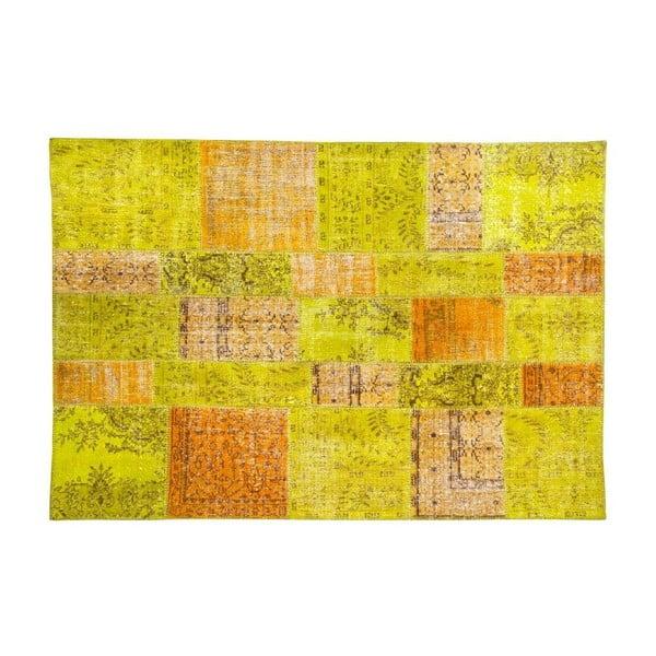 Vlněný koberec Allmode Green Or, 200x140 cm