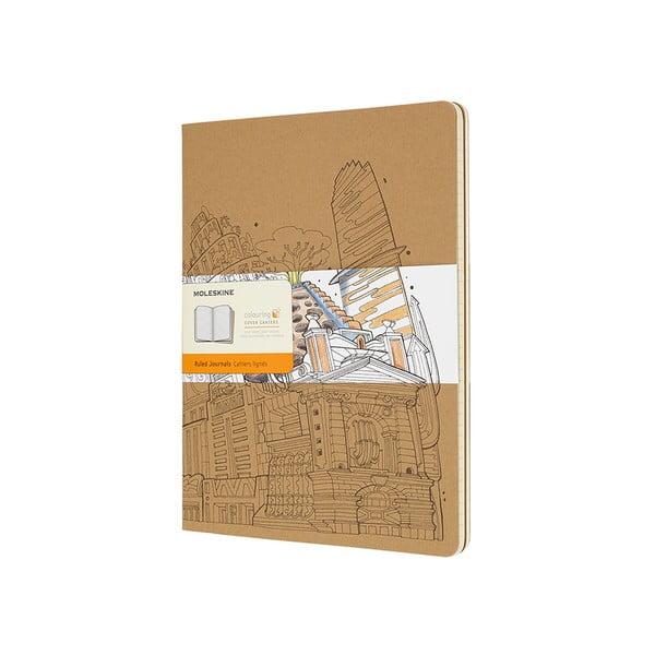 Caiet Moleskine Cahier, 192 pag., hârtie dictando, maro