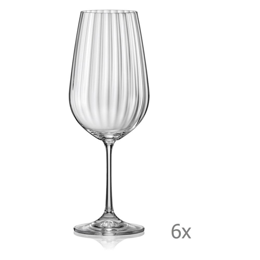 Sada 6 sklenic na víno Crystalex Waterfall, 550 ml