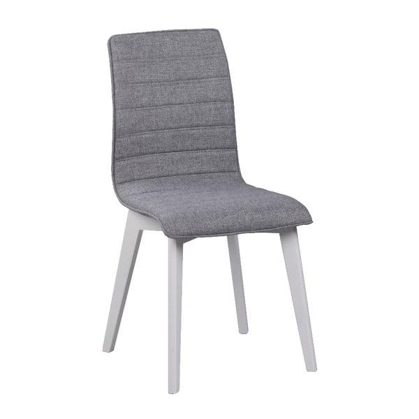 Sivá jedálenská stolička s bielymi nohami Rowico Grace