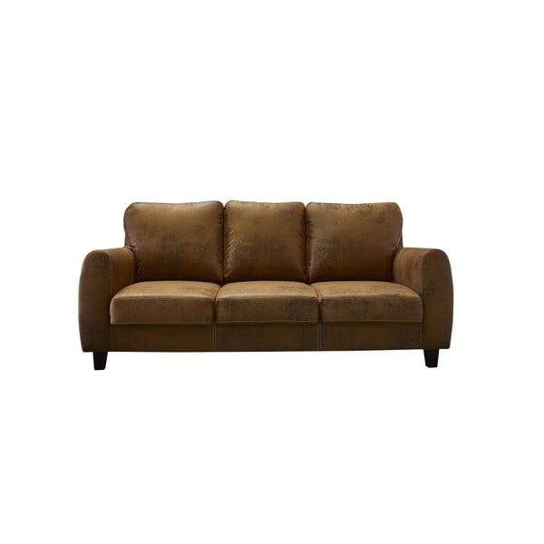 Brązowa sofa 3-osobowa Bobochic Paris Felicita
